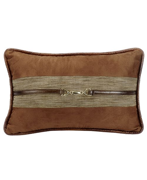 HiEnd Accents Suede 12x19 Pillow with Buckle Detail