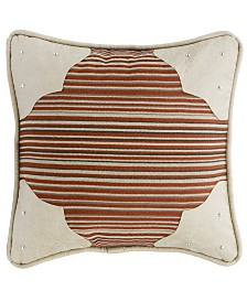 "Faux Leather 18""x18"" Corner Scallop Pillow"