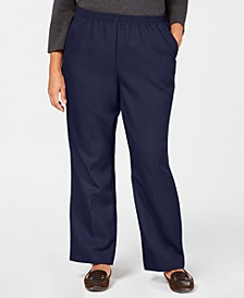 Plus Size Mid-Rise Pull-On Pants, Created for Macy's