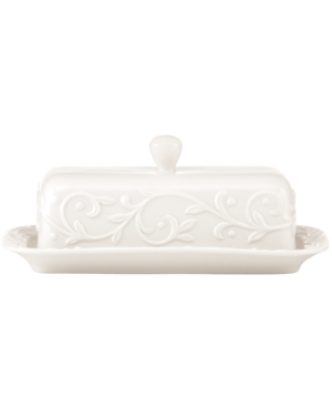 Lenox Dinnerware, Opal Innocence Carved Covered Butter Dish