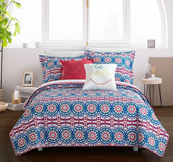 Chic Home Tristan 5 Piece Full Quilt Set
