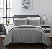 Chic Home Amandla 3 Piece King Quilt Set