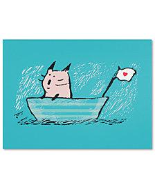 Carla Martell 'Sweet Sailor Cat' Canvas Art Print Collection