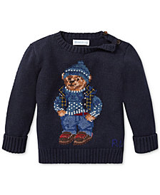 Polo Ralph Lauren Baby Boys Polo Bear Cotton Sweater