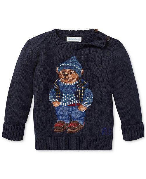 Polo Ralph Lauren Baby Boys Polo Bear Cotton Sweater