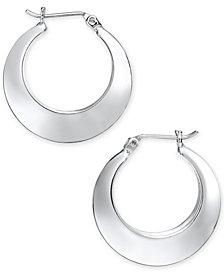 Alfani Silver-Tone Polished Hoop Earrings, Created for Macy's