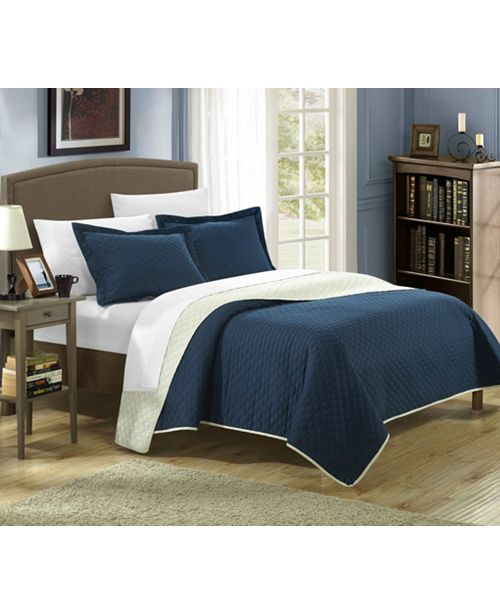 Chic Home Teresa 3 Piece King Quilt Set