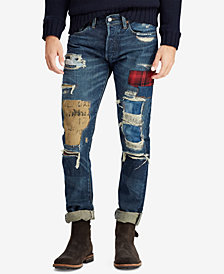 Polo Ralph Lauren Men's Distressed Sullivan Slim Cotton Jeans