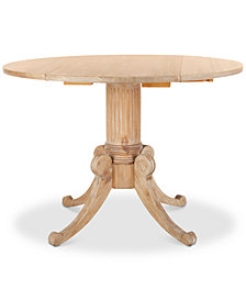Forest Drop Leaf Dining Table, Quick Ship