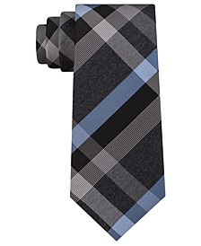 Men's Ruby Plaid Slim Tie