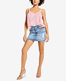 GUESS Addison Embroidered Sequin Camisole