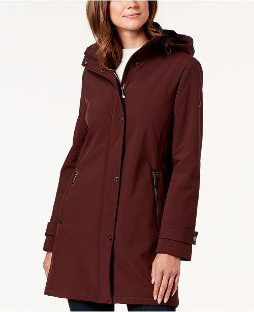 Calvin Klein Petite Hooded Raincoat