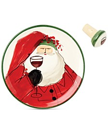 Old St. Nick Canapé Plate with Cork Stopper