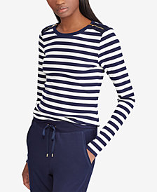 Lauren Ralph Lauren Zipper-Trim Top