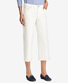 Lauren Ralph Lauren Cropped Wide-Leg Jeans