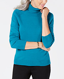 Karen Scott Petite Luxsoft Turtleneck Sweater, Created for Macy's