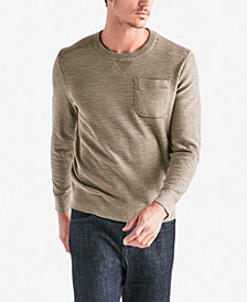 Lucky Brand Mens Welterweight Washed Pocket Crew
