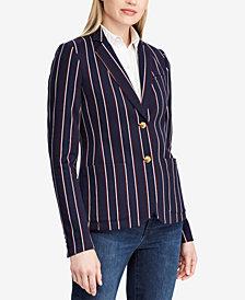 Lauren Ralph Lauren Striped Jacquard Blazer