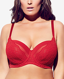 City Chic Trendy Plus Size Elodie Lace-Trim Contour Bra