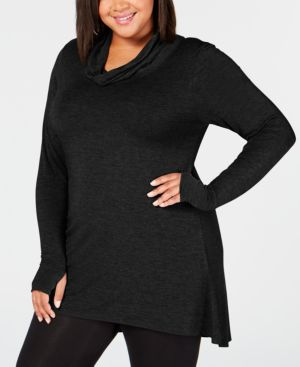 Image of Cuddl Duds Plus Size Softwear Stretch Cowl-Neck Tunic