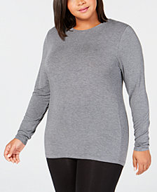 Cuddl Duds Plus Size Softwear Crew-Neck Top