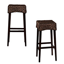 "Water Hycinth 30"" Bar Stool (Set Of 2), Quick Ship"