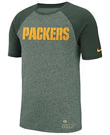 Nike Men's Green Bay Packers Marled Raglan T-Shirt