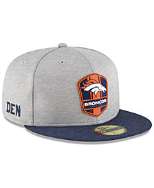 New Era Boys' Denver Broncos Official Sideline Road 59FIFTY Fitted Cap