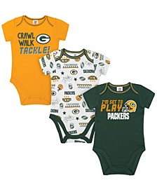 Green Bay Packers 3 Pack Creeper Set, Infants (0-9 Months)
