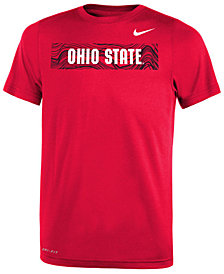 Nike Ohio State Buckeyes Legend Sideline T-Shirt, Big Boys (8-20)