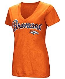 Women's Denver Broncos Tailspin Script Foil T-Shirt