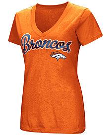 G-III Sports Women's Denver Broncos Tailspin Script Foil T-Shirt