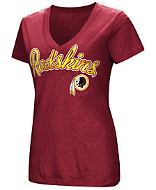 G-III Sports Women's Washington Redskins Tailspin Script Foil T-Shirt