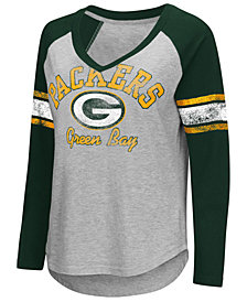 G-III Sports Women's Green Bay Packers Sideline Long Sleeve T-Shirt