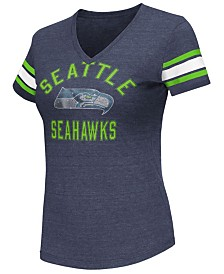 G-III Sports Women's Seattle Seahawks Wildcard Bling T-Shirt