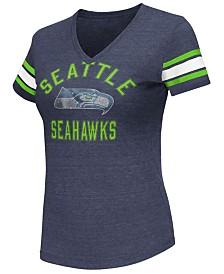 G-III Sports Women's Seattle Seahawks Wildcard Bling T-Shirt