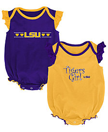 Outerstuff LSU Tigers Homecoming Creepers 2 Pack, Infants (0-9 Months)