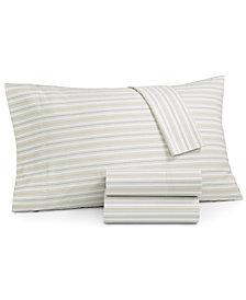 Martha Stewart Essentials Printed 220 Thread Count 3-Pc. Twin Sheet Set, Created for Macy's