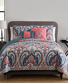 Casa Re`al Reversible 5-Pc. Full/Queen Quilt Set