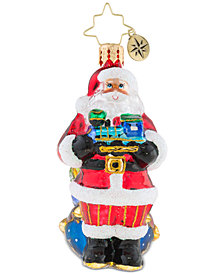 Christopher Radko Choo Choo Santa Gem Ornament