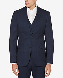 Perry Ellis Men's Slim-Fit Washable Plaid Jacket