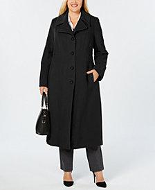 Anne Klein Plus Size Notch-Collar Coat