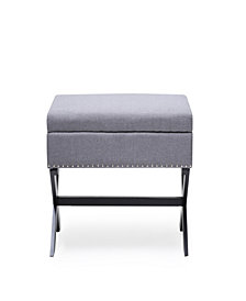 Storage Ottoman Bench in Grey