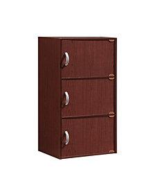 3-Shelf, 3-Door Bookcase