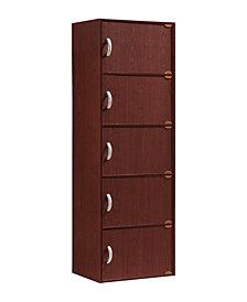 5-Shelf, 5-Door Bookcase