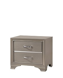 Logan 2-Drawer Night Stand in Champagne Finish