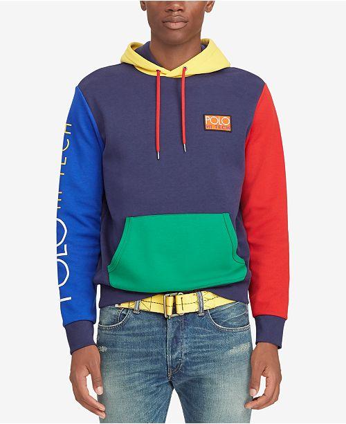 53880556 Polo Ralph Lauren Men's Big & Tall Hi Tech Colorblocked Hoodie ...