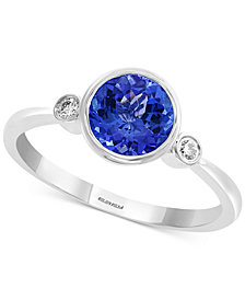 EFFY® Tanzanite (1-1/4 ct. t.w.) & Diamond Accent Ring in 14k White Gold