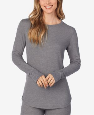 Image of Cuddl Duds Long-Sleeve Waffle Thermal Top