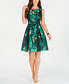 Jessica Howard Printed Fit & Flare Dress